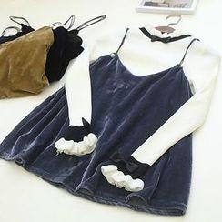 Oh My Love - Velvet Camisole Top