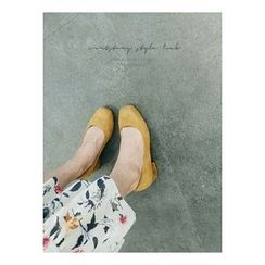 ATTYSTORY - Faux-Suede Round-Toe Pumps