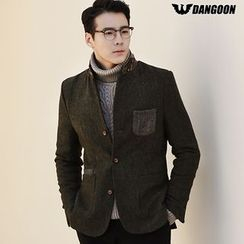 DANGOON - Elbow-Patch Contrast-Trim Wool Blend Jacket