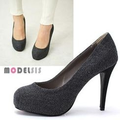 MODELSIS - Tweed Stiletto Pumps