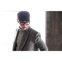 SCOU - Peaked-Lapel Double-Breasted Coat
