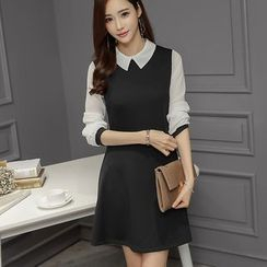 looknice - Long-Sleeve A-line Dress