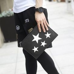BagBuzz - Faux Leather Star Clutch