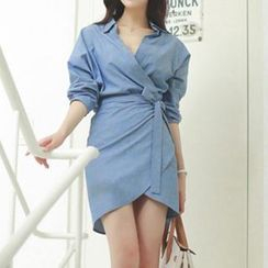 Amella - Tie-Waist Shirtdress