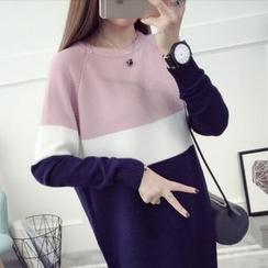 芙苪FR - 插色針織裙衣