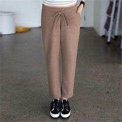 CHICFOX - Drawstring-Waist Straight-Cut Pants