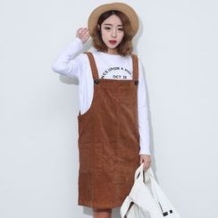 Sens Collection - Corduroy Jumper Skirt