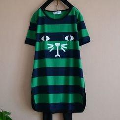 ISME - Animal Stripe Short-Sleeve T-shirt