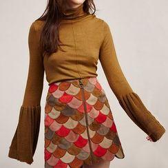 Obel - Beaded Turtleneck Sweater