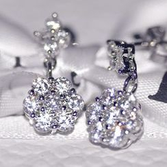 Nanazi Jewelry - Rhinestone Sterling Silver Earrings