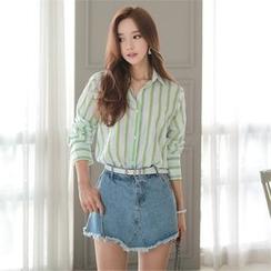 Babi n Pumkin - Long-Sleeve Striped Shirt