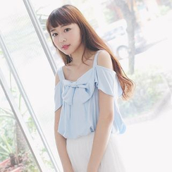 Tokyo Fashion - Frilled Bow Front Strappy Top