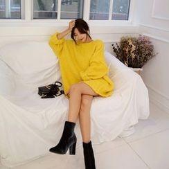 DABAGIRL - Drop-Shoulder Oversized Nubby-Knit Sweater
