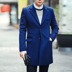 Bay Go Mall - Notch Lapel Single-Breasted Coat