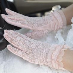 RGLT Scarves - Ruffled Lace Gloves