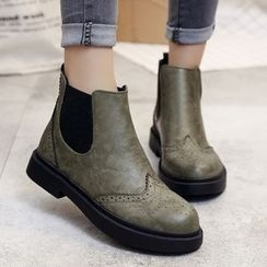 SouthBay Shoes - Gusset Wingtip Ankle Boots