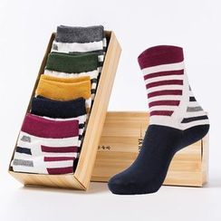 YiFFi - Set of 5 Pairs: Stripe Socks