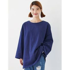 FROMBEGINNING - Round-Neck Oversized T-Shirt
