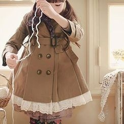 Cuckoo - Kids Lace Hem Trench Coat