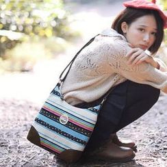 SUPER LOVER - Ethnic-Pattern Crossbody Bag