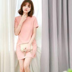 Tokyo Fashion - Plain Short-Sleeve Dress