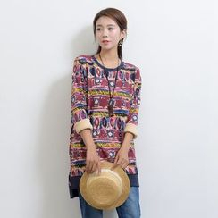 Waypoints - Patterned Long Sleeve Tunic