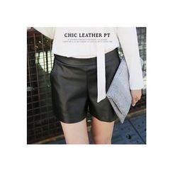 REDOPIN - Faux-Leather Shorts