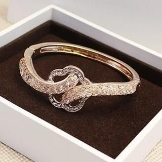 Love Generation - Rhinestone Flower Bangle