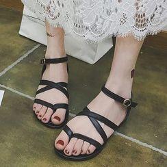 Wello - Strappy Loop Toe Sandals