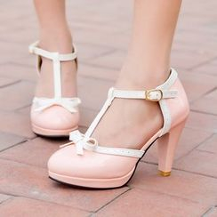 Pretty in Boots - T-Strapped Pumps