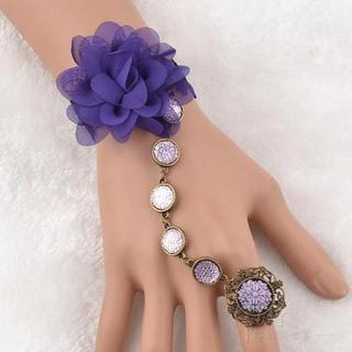 Trend Cool - Corsage Crochet Ring Bracelet
