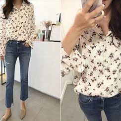 Hello sweety - Floral Print Shirt