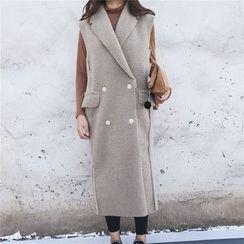 MePanda - Notch Lapel Long Vest