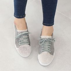 DANI LOVE - Faux-Fur Trim Sneakers