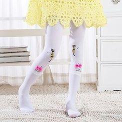 Madou - 童装印花连裤袜