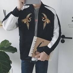 Arthur Look - Embroidered Zip Jacket