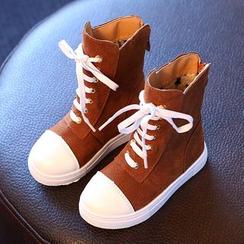 綠豆蛙童鞋 - 童裝繫帶靴子