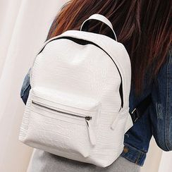 Clair Fashion - Faux-Leather Backpack