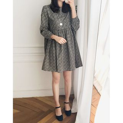 UPTOWNHOLIC - Round-Neck Pattern Dress