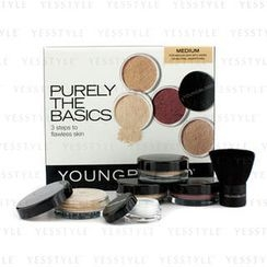 Youngblood - Purely The Basics Kit - #Medium (2xFoundation, 1xMineral Blush, 1xSetting Powder, 1xBrush, 1xMineral Powder)