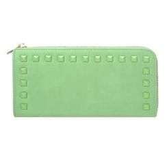 ans - Studded Zip Long Wallet