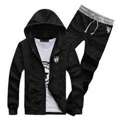 Aozora - 套装: 拉链连帽衫 + 运动裤