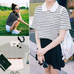 QZ Lady - Striped Polo Shirt