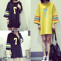 Melon Juice - Print 3/4-Sleeve T-Shirt Tunic