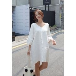 BBORAM - Square-Neck 3/4-Sleeve Dress