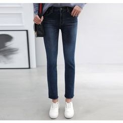 Miamasvin - Brushed-Fleece Lined Slim-Fit Jeans