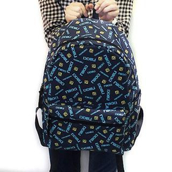 Bag Hub - Logo Print Canvas Backpack