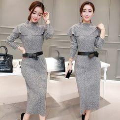 Sienne - Mock Two-Piece Knit Dress