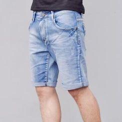 SeventyAge - Cuff Hem Denim Shorts