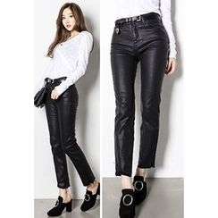 INSTYLEFIT - Coated Slim-Fit Pants